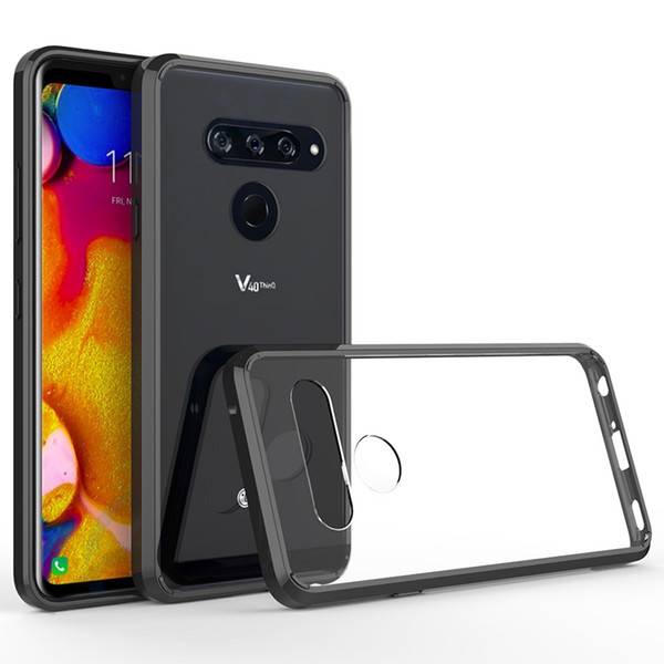 Hybrid Shockproof Cover Air Cushion Case For LG V40 G7 ThinQ Acrylic Crystal Clear Back Shell Scratch Resistant Coating For LG V40