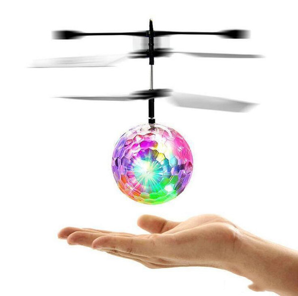 Drone Helicopter RC Toy EpochAir RC Flying Ball Built-in Disco Music With Shinning LED Lighting Remote Control UFO Toys for Kids