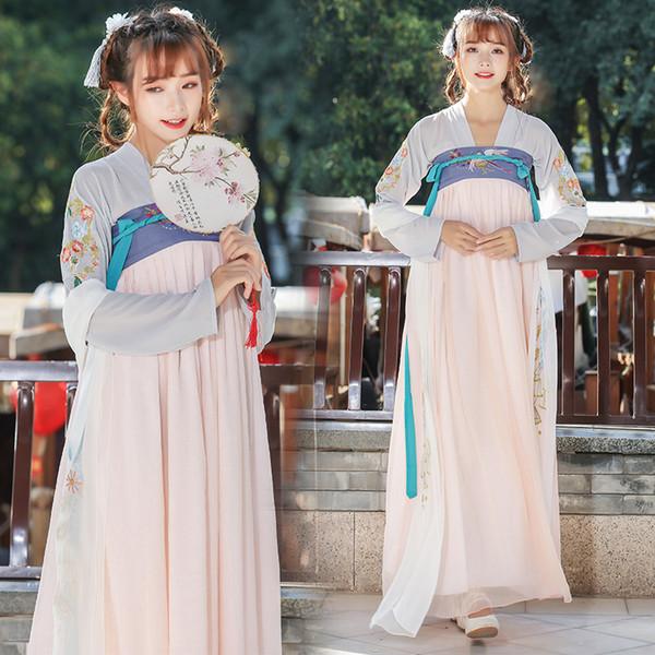 Chinês antigo fada princesa roupas tang roupas de dança folclórica chinesa para o palco dama hanfu traje tang dinastia cosplay dress