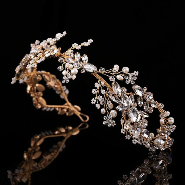 Bride crown pure hand custom baroque crown exterior shooting headwear accessories wedding dress accessories