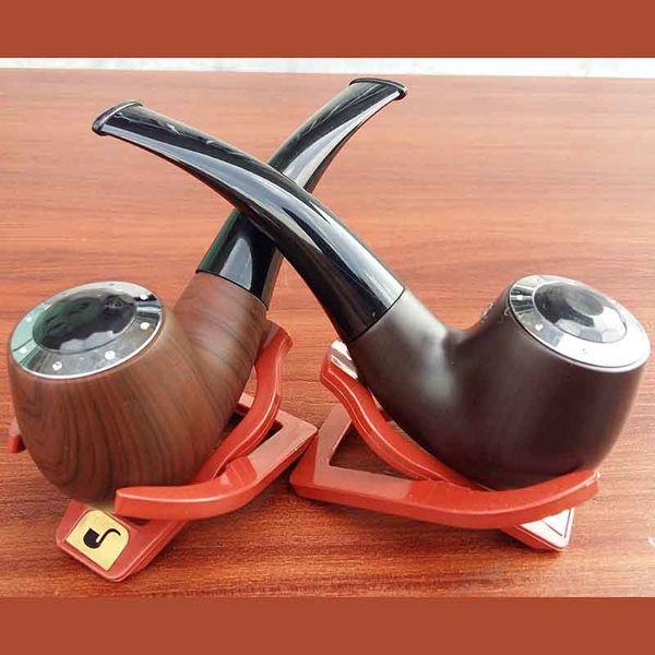 Mini E Pipe 628 Kit Fumeur Meilleur vaporisateur 618 Vape Mod Pipe Cigarette Eletronic Grande Vapeur En Bois E Cig Avec Trois Cartouches