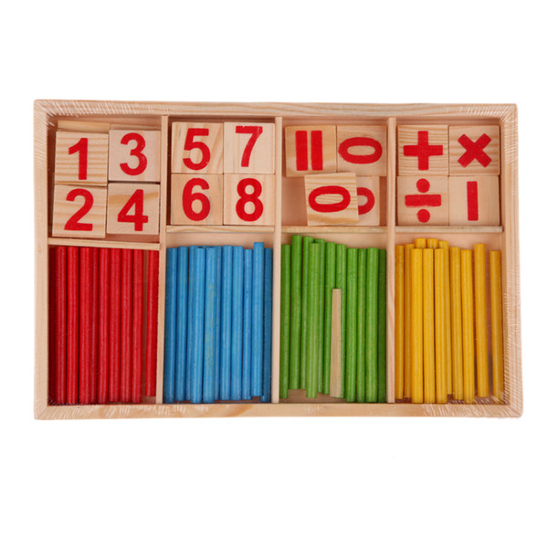 Children Wooden Toys Mathematics Numbers Puzzle Toys for Children Kid Educational Early Learning Counting Math Games Calculate