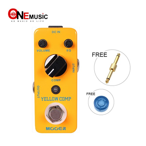 Mooer Yellow Comp Optical Compressor Guitar Effect Pedal Sound with Smooth Attack and Decay Further More