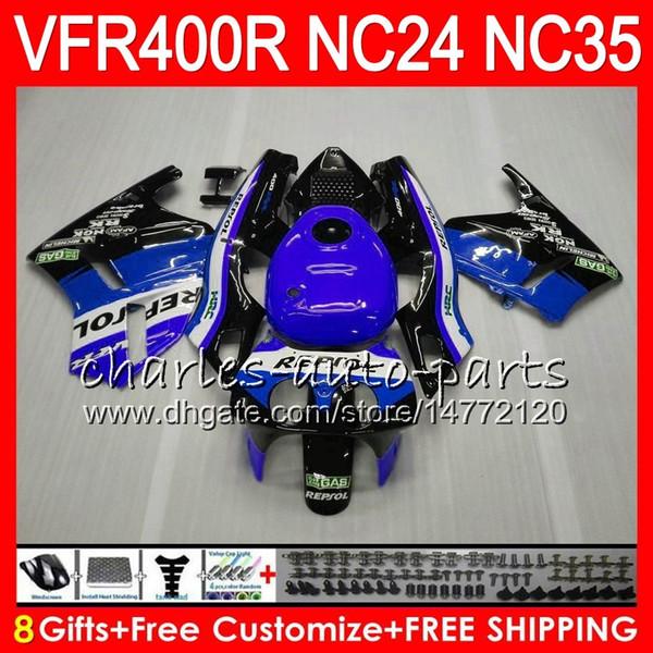 RVF400R For HONDA VFR400 R NC24 V4 VFR400R 87 88 94 95 96 Repsol blue 81HM84 RVF VFR 400 R NC35 VFR 400R 1987 1988 1994 1995 1996 Fairings