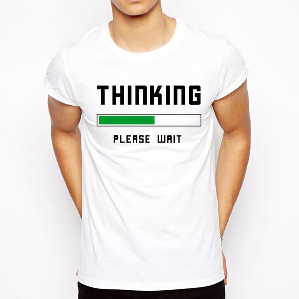 Top qualité mode manches courtes intellectuel penseur t-shirts pour hommes tops confortables cool hommes t-shirt casual mens t shirts