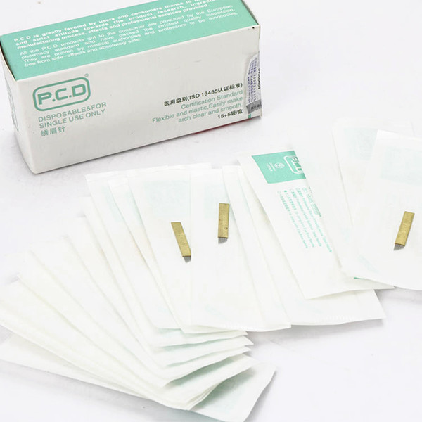 best selling Gamma Ray Sterile PCD 12 pin Microblading Needles for 3D Eyebrow embroidery Permanent Makeup manual blade needles