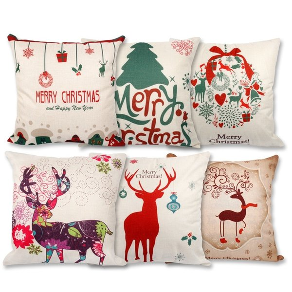 Christmas Pillow Cover Christmas Decorations For Home Xmas Santa Claus Happy New Year Home Decor Christmas Ornaments D18110802