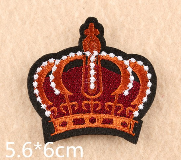 UK Style Crown Iron patch embroidered patches for sewing Bag clothing patches iron on sewing accessories applique