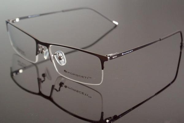 Чистые титановые пружинные оправы для очков с черными стеклами без оправы