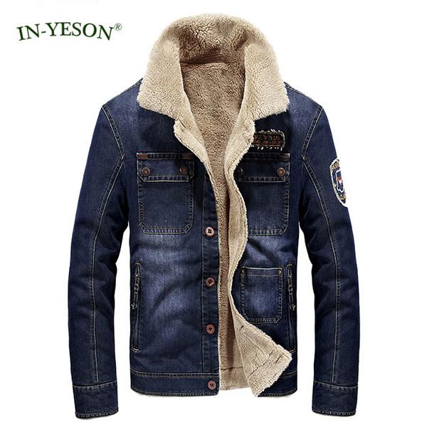 Jacke Denim Parka Jeans Winterjacke Pelz Mode Von Mantel Hochwertige Yeson Jaqueta Dicke In Großhandel Männer Masculina Fleece Warme Marke NP0w8XZkOn
