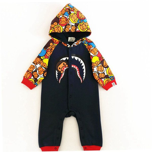 Baby Fashion APE winter Jumpsuits verall Newborn Clothes Fashion Ape Roupas Boy Girls Cotton Warmming Rompers clothings
