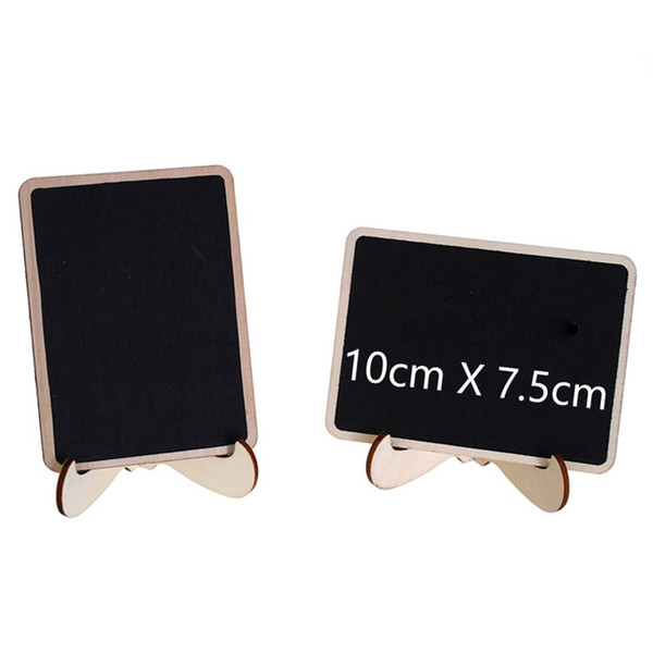top popular Mini Multi Blackboard with Stand Wooden Chalkboard Message Table Number Wedding Decoration Party Decor Marriage Supplies 10*7.5cm 2021
