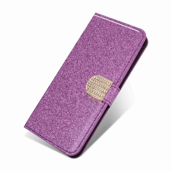 Wholesale Wallet Case For Huawei P20 Pro P20 Lite P20 Mate 10 Pro P10 Lite P10 Glitter Shine Drilled Buckle Case for CellPhone