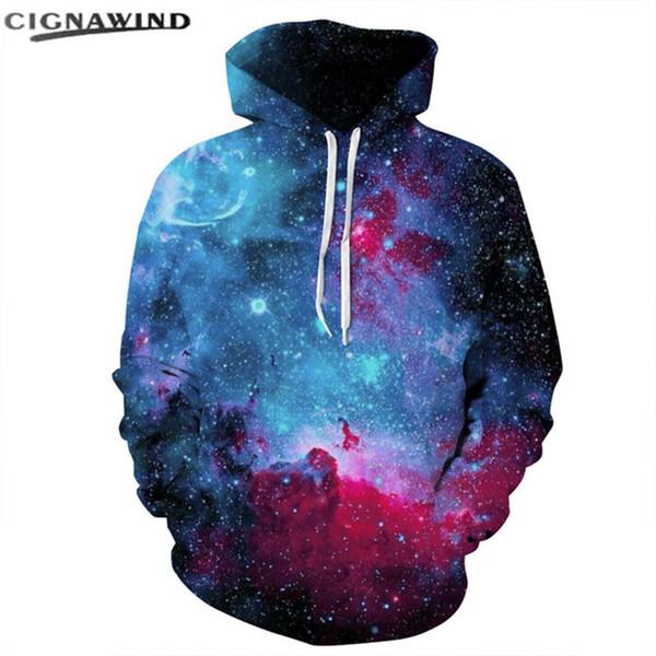 New Space Galaxy Hoodies Men Women hip hop Hat 3d Sweatshirts Print Colorful Nebula hoodie Thin Autumn fashion Sweatshirt tops