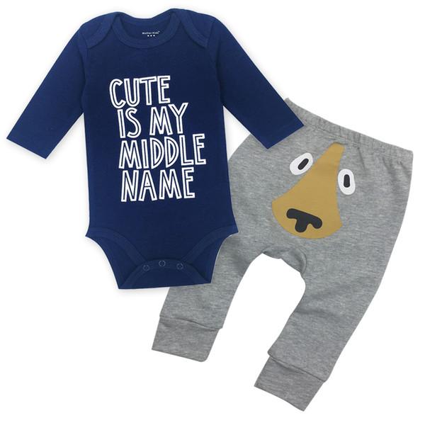 Trajes de bebés y bebés Body de algodón 100% O-cuello de manga larga Ropa de niño Ropa interior de niño Ropa interior Ropa infantil