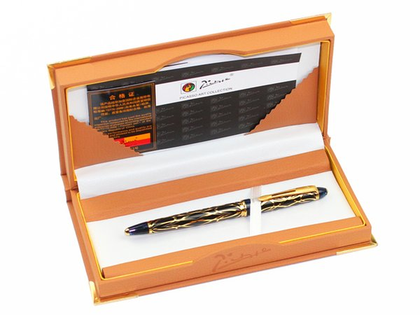 Pimio 901 Paris Exotica Luxury Gold Iridium Fountain Pen with 0.5mm Nib Metal Ink Pens Writing Office Gift Free Shipping