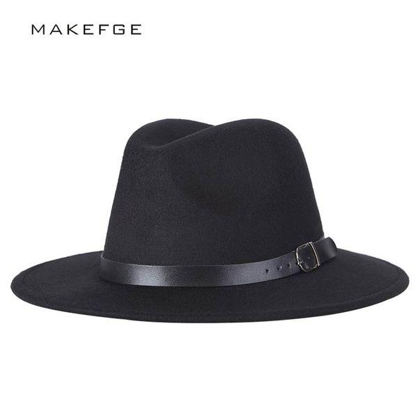 9995ad3048 chapeu feutre Design Women's Chapeu Feminino Fedora Hat For Laday Wide Brim  Sombreros Jazz Cap Panama
