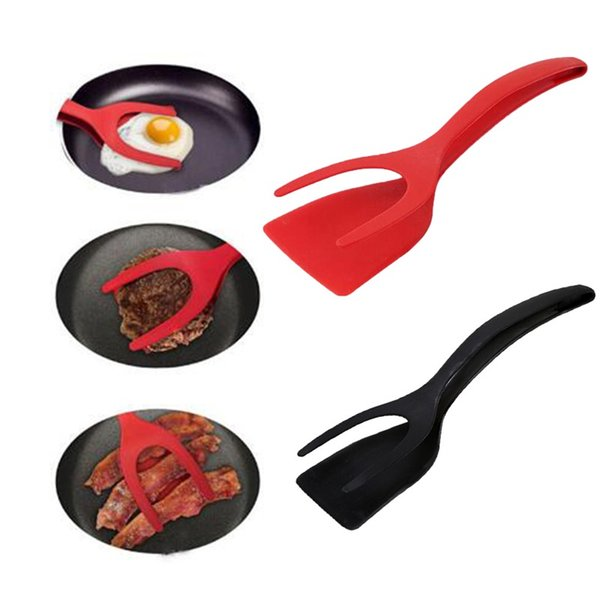 2 In 1 Fried Egg Clips Creative Multi Function Silicone Spatula Kitchen Cooking Pot Shovel Accessories 6 8xd CY