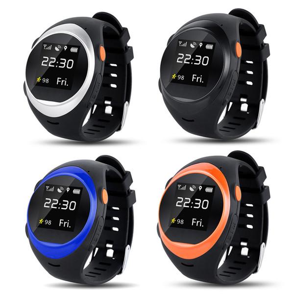 Nouvellement Smart Watch Étanche Personnes âgées Anti-perte d'Alarme Pour iOS Android Téléphone SOS GPS Positionnement Smartwatch