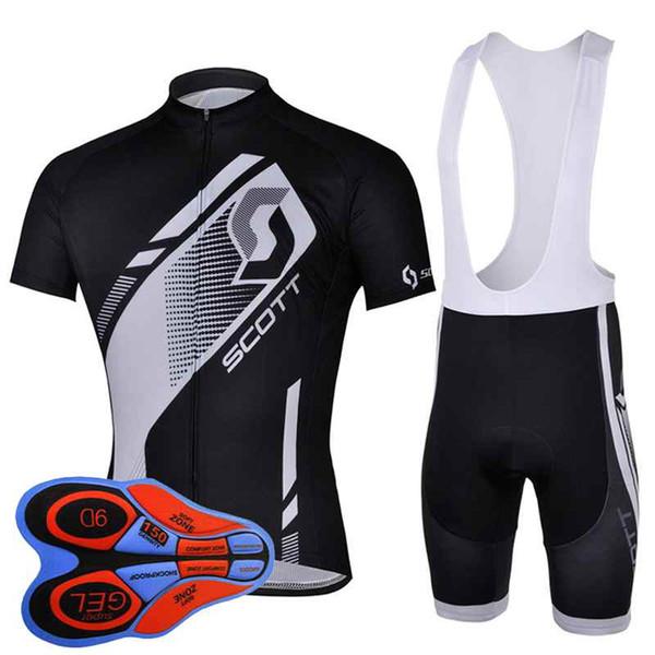 Скотт команда Велоспорт короткие рукава Джерси (нагрудник) шорты устанавливает новые поступления летний мужской горный велосипед спортивный гоночный одежда 92825J