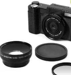 2018 Fotocamera digitale professionale SLR semi-digitale da 24 megapixel HD con 4 volte di teleobiettivo, fotocamera grandangolare fisheye con obiettivo macro