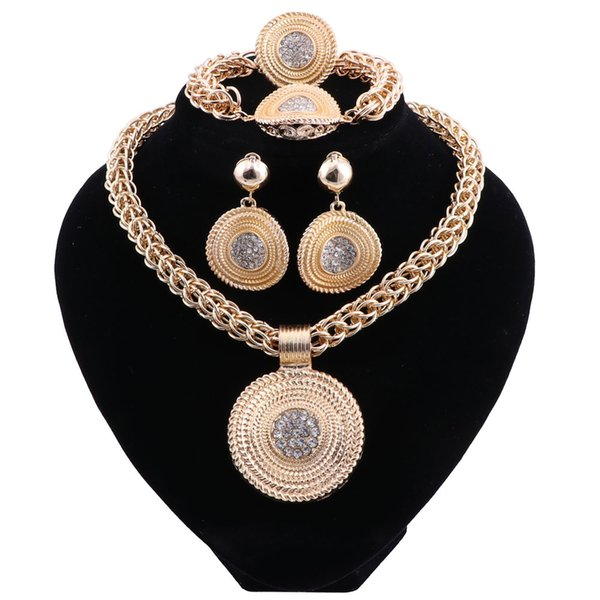Neckalce Earrings Sets Women Fashion African Beads Jewelry Set Party Pendant Indian Jewellery Vintage Dubai Jewelry SetsAfrican Beads Costum