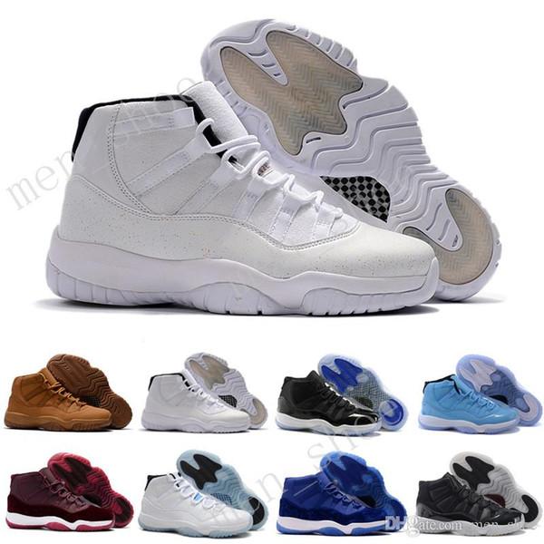 Cheap (11)XI Legend Blue Basketball Shoes Good Quality Men Sports Shoes Wholesale Women&mens Trainers Athletics Boots 11 XI Sneakers