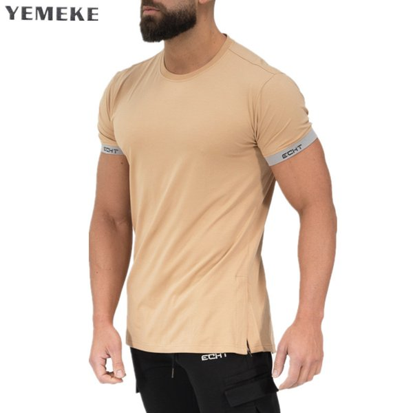 Men's Summer style Fashion personality t Shirt Bodybuilding Muscle male Leisure Short sleeves Slim fit Shirts Tee tops clothing