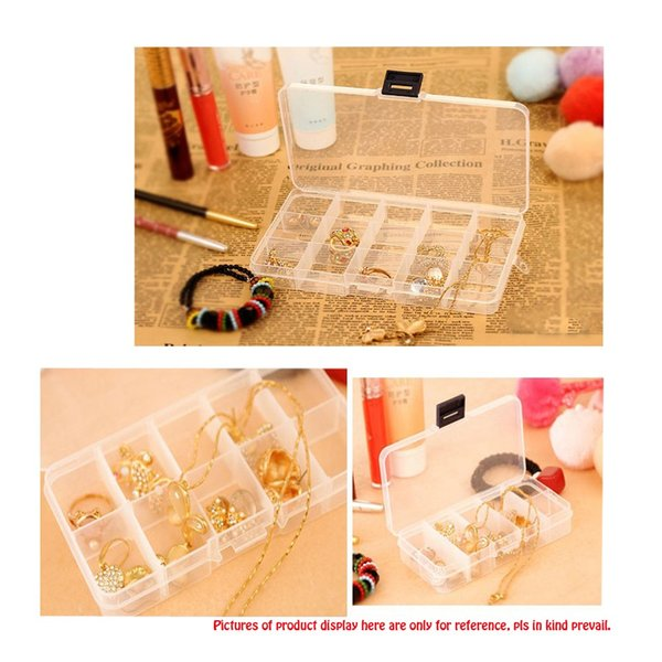 Transparent Jewelry Storage Box Compartment Case Holder Necklace Bracelet Earrings Beads Rings Organizer Plastic Container 24Grids