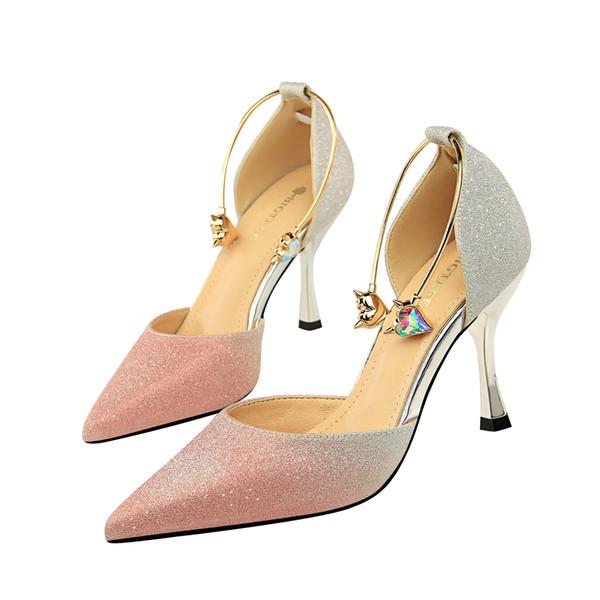 863ac275f2c25 Rhinestones High Heels Lady Dress Shoes Women Heels Pumps Festival Party  Wedding Shoes Business Formal Pumps Clubwear Stiletto Heels GWS498 Slippers  ...