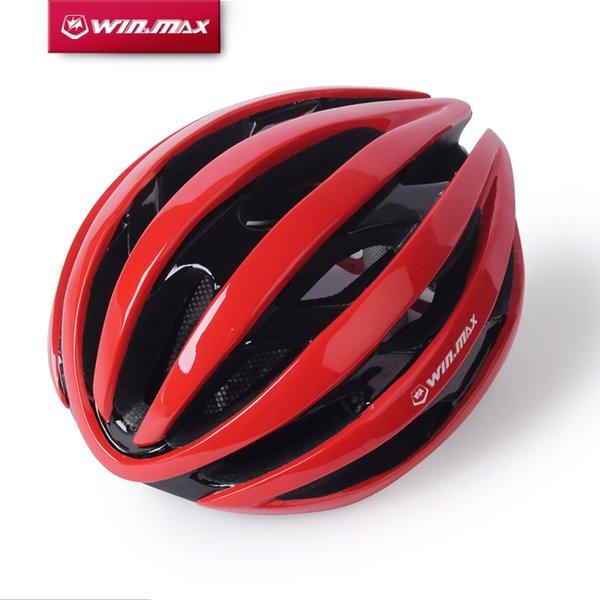 2017 Winmax Casco da bicicletta con luci di segnalazione a led Casco da ciclismo Ultraleggero Pc + Eps Road Mountain Mtb Bike Helmet