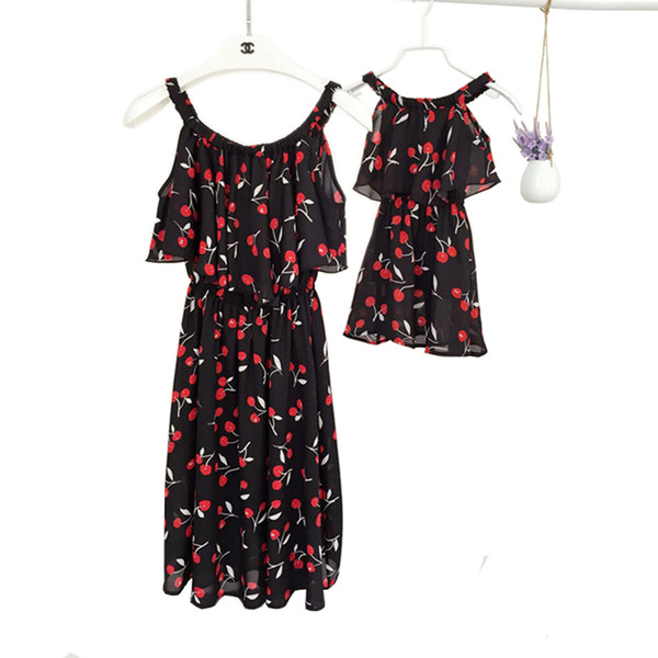 Mother Daughter Dresses Family Look Bohemian Holiday Dress Mom and Me Clothes Kids Summer Beach Dress Family Matching Outfits