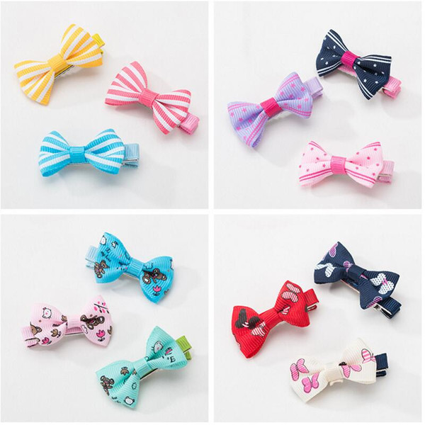 Lovely Multi Style Handmade Designer Dog Hair Bows Clip Cat Puppy Grooming Bows for Pet Hair Accessories LX3442