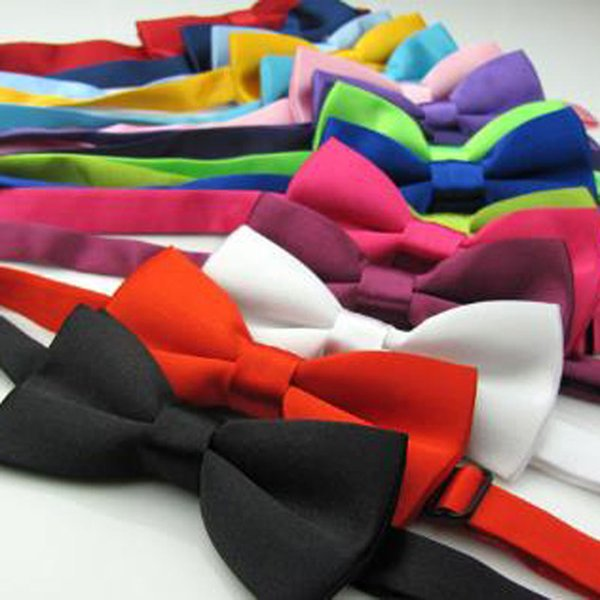 Children Kids Wedding Party Tuxedo Marriage Butterfly Cravat New Baby Boys Girls Bright Color Bow Tie Adjustable Children Ties For Gifts