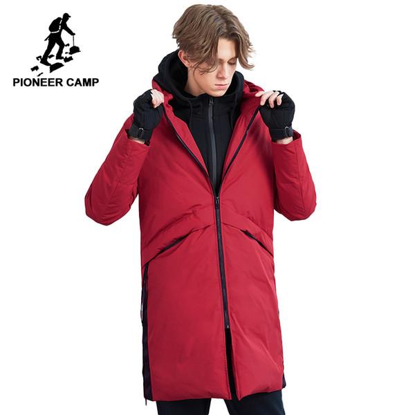 0f9957aa1d6b1 Пионерский лагерь длинные зимние пуховик для мужчин бренд одежды мода 90%  утиный пуховик мужской высокое