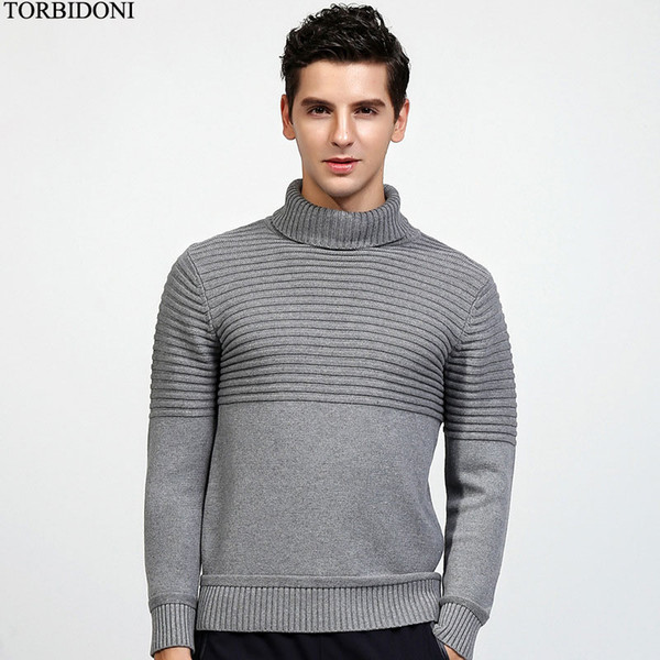 2019 Men'S Casual Turtleneck Knitwear Autumn Sweater Slim Fit Solid Mens Knitted Sweaters Pullovers Fashion England Pull Homme M XXL From Beenling,