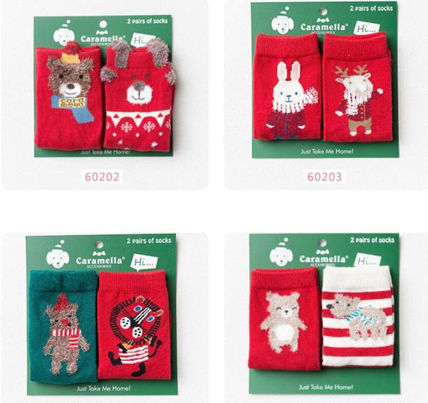 Regali Di Natale Per Bambini 2 Anni.Acquista 2 Paia Set Calze Natalizie Invernali Bambini Calze