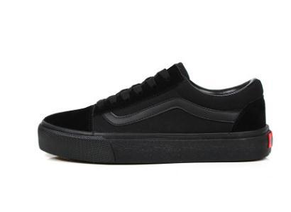 Classics Skateboard Sneakers All Black Men and Women Low Lace up Canvas Casual Flat Shoes Trainers Unisex Zapatillas Walking Shoes 35-45