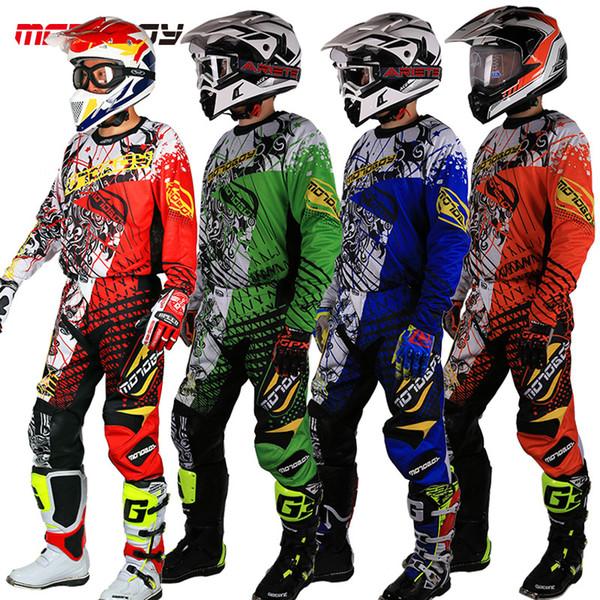 New Design Motocross Race Suit Men Big Size M 3XL 4XL Blue Green Dirt Bike Off-road Clothing Atv Motorcycle Jersey Suit T