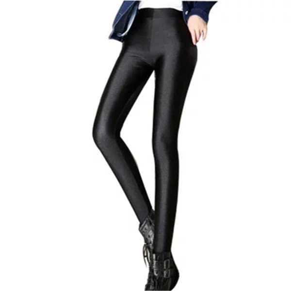 2018 Plus Size 3XL Leggings For Women Soild Color Leggings Elastic Multicolor Shiny Glossy New ZY4138