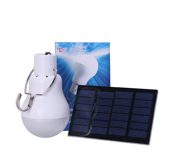Hot 15W 130LM Portable Led Bulb Light Charged Solar Energy Lamp Home Outdoor Lighting Free Shipping