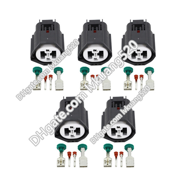 5 Sets 4 Pin Female Car Connector Waterproof Electric Automotive Wire Connector Sealed Car Plug DJ7049Y-1.5/9.5-21 With Terminal