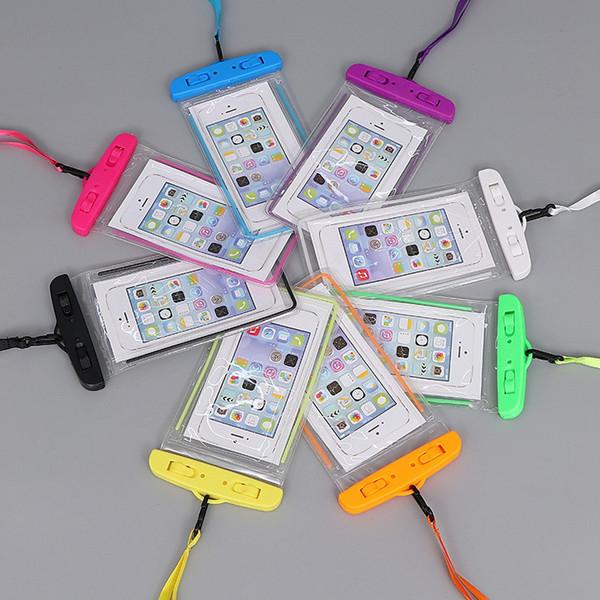Caso À Prova D 'Água Caso Saco Do Telefone Bolsa Luminosa Telefone Bolsa À Prova de água Caso de Natação Mergulho Para Telefone Inteligente até 6 Polegada WCC1 WCC2