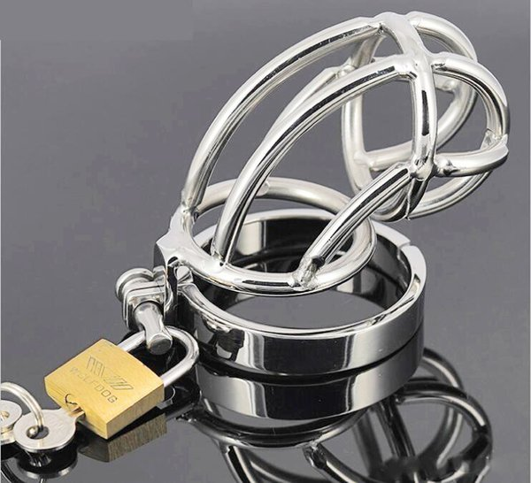 : Men Male Chastity Belt Cock Cage Penis Lock