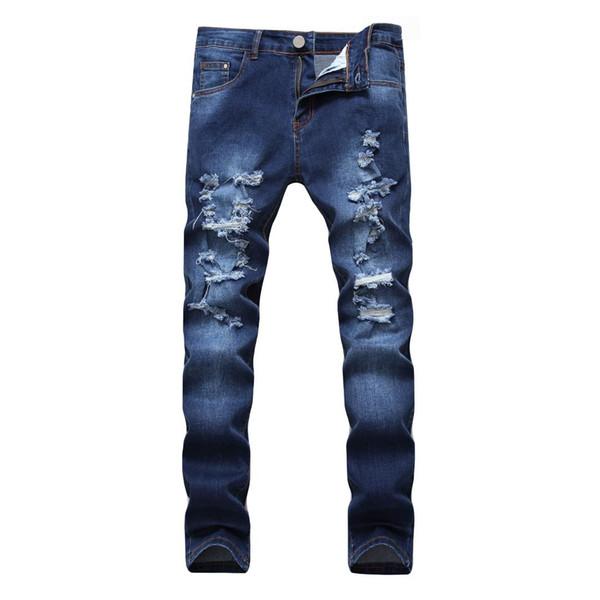 Slim Straight Fashion Herren Jeans Marke Casual Reißverschluss Taschen Denim Hosen Plus Größe Jeans Masculino Plus Größe