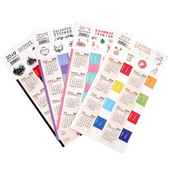 2018 Новый год календарь время наклейки DIY декоративные пуля журнал наклейки для Дневник планировщик ноутбуки канцелярские наклейки