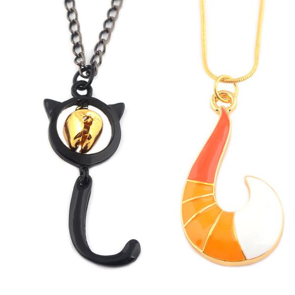 Neue Anime Miraculous Marienkäfer Halskette Männer Gold Fox Angelhaken Form Anhänger Dame Mädchen Charme Chic Halsketten Weihnachtsgeschenk