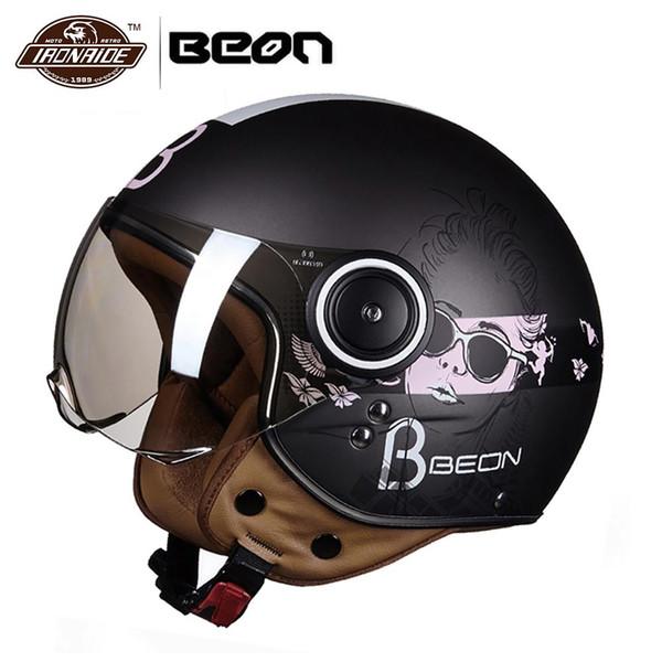Motorcycle Helmet Moto Chopper 3 4 Open Face Vintage Helmet Casque