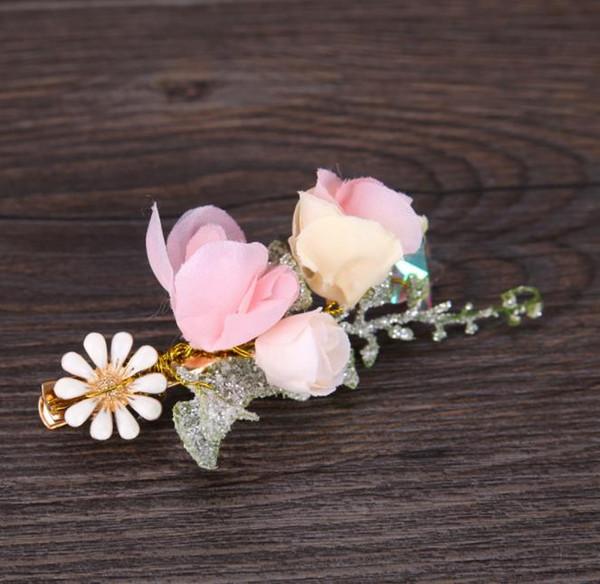 2018 yeni peri saç çiçek pimi, gelin şapkalar süsler çiçek yaprak firkete