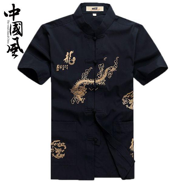 Chinês tradicional dos homens tang terno oriente tops camisas orientais para os homens hanfu blusa cheongsam linho roupas de estilo vintage